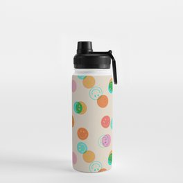 Smiley Face Stamp Print Water Bottle