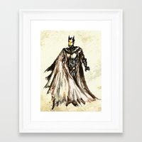 steam punk Framed Art Prints featuring Batbot- Steam Punk  by Chien-Yu Peng