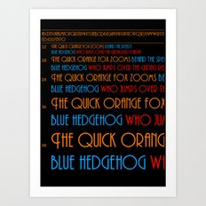 The Quick Orange Fox Art Print