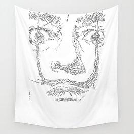 Salvador Dalì WordsPortrait Wall Tapestry