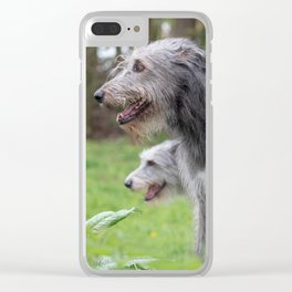 Wolfhounds big meek gray giants Clear iPhone Case