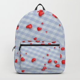 VALENTINE HEARTS - Red Hearts & Boys Blanket Backpack