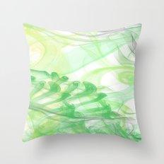Green Smoke Throw Pillow