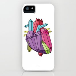 Anatomy of a Heart - Crystal Heart iPhone Case