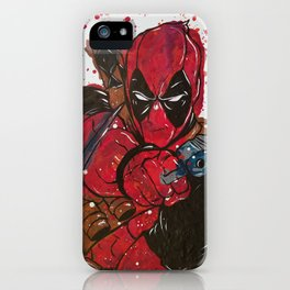 Merc With a Mouth Melted Crayon Painting iPhone Case