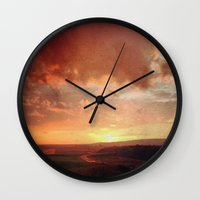 courage Wall Clocks featuring Courage by Elina Cate