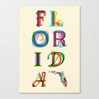 florida Canvas Prints featuring Florida by Fimbis
