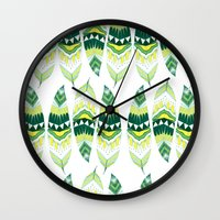 indiana Wall Clocks featuring Eerie Indiana  by Animaux Circus