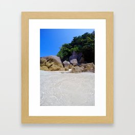 Similan Rocks Thailand Framed Art Print