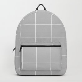 Graph Paper (White & Gray Pattern) Backpack