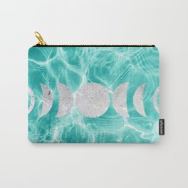 Pool Dream Moon Phases #1 #water #decor #art #society6 Carry-All Pouch