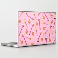 magical girl Laptop & iPad Skins featuring Magical Girl Weapons by mimia
