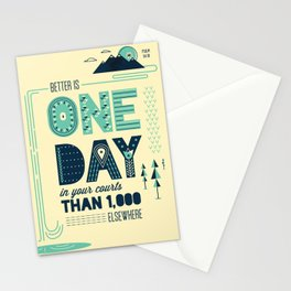 3/52: Psalm 84:10 print Stationery Cards