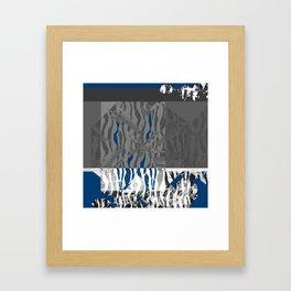 blue stuff around Framed Art Print