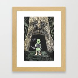 Enter the Deku Tree Framed Art Print