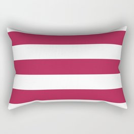 French wine - solid color - white stripes pattern Rectangular Pillow