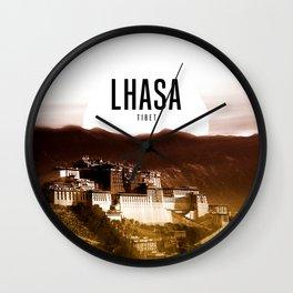 Lhasa Wallpaper Wall Clock