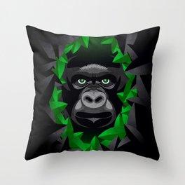 Shy Green Eyes Throw Pillow