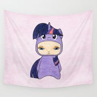 mlp Wall Tapestries featuring A Boy - Twilight Sparkle by Christophe Chiozzi