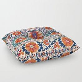 Shakhrisyabz Suzani Uzbekistan Antique Rug Floor Pillow