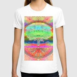 Neon Glow Tree of Life T-shirt