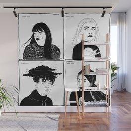 Druck - four mains Wall Mural