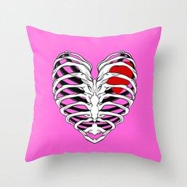 SKELETON HEART Throw Pillow