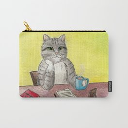Pause for thought (El gato escritor) Carry-All Pouch