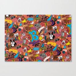 """B"" Pattern Canvas Print"