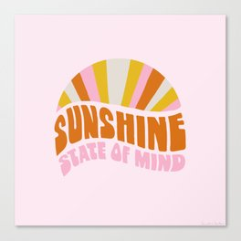 sunshine state of mind, type Canvas Print