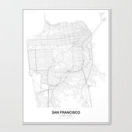 San Francisco, United States Minimalist Maps Canvas Print