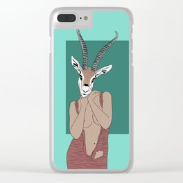 Gazelle Clear iPhone Case