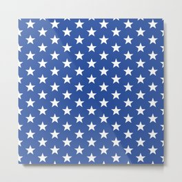 Superstars White on Blue Medium Metal Print