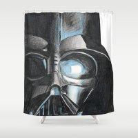 darth Shower Curtains featuring Darth by Michael Hewitt