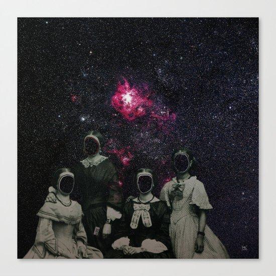 Untergang · Der Blick ins Universum Canvas Print