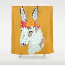 Penelope the Pinto Donkey Shower Curtain