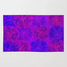 Purple Umbrellas Rug