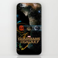 guardians of the galaxy iPhone & iPod Skins featuring Guardians of the Galaxy by edgarascensao