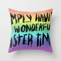 snl Throw Pillows featuring EASTERTIME by Josh LaFayette