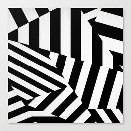 RADAR/ASDIC Black and White Graphic Dazzle Camouflage Canvas Print