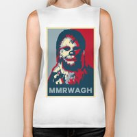 chewbacca Biker Tanks featuring Chewbacca  by Ilustrachii