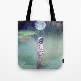 Moon Balloon Tote Bag