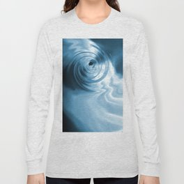Blue Liquid Water Whirlpool Abstract Graphic Long Sleeve T-shirt