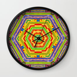Stained Glass Kaleidoscope Wall Clock