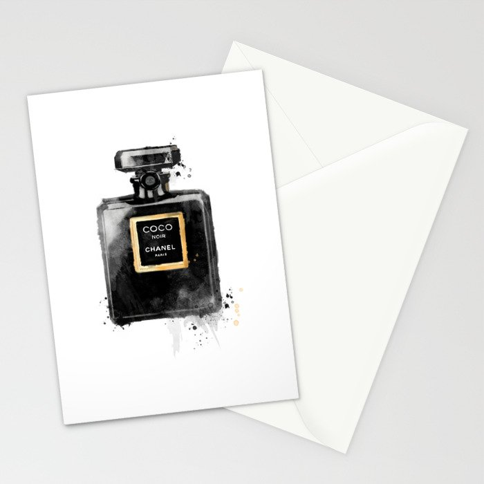 Perfume bottle fashion Stationery Cards