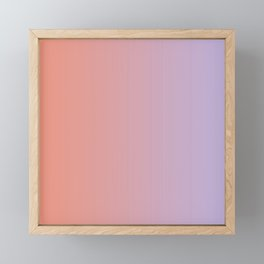 Lilac Orange Gradient Framed Mini Art Print