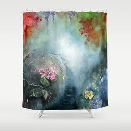 Spring paradise painting Shower Curtain