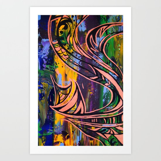 Copper lines Art Print