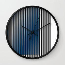 Escultura Cubo virtual azul y negro con progresión amarilla -Detail- Wall Clock