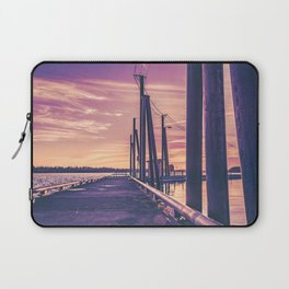 Water Sunset at the Dock Laptop Sleeve